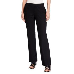 Eileen Fisher Black Stretch-Crepe Straight Pant S